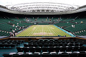 The Royal Box overlooking Centre Court is pictured ahead of the Ladies Singles Final between Serena Williams of the USA and Garbine Muguruza of Spain...