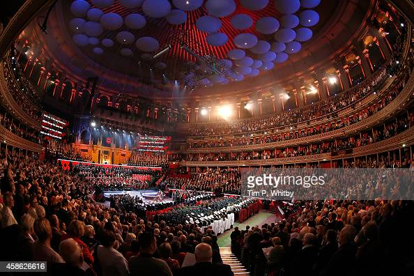The Royal British Legion's Festival of Remembrance matinee performance at Royal Albert Hall on November 8 2014 in London England