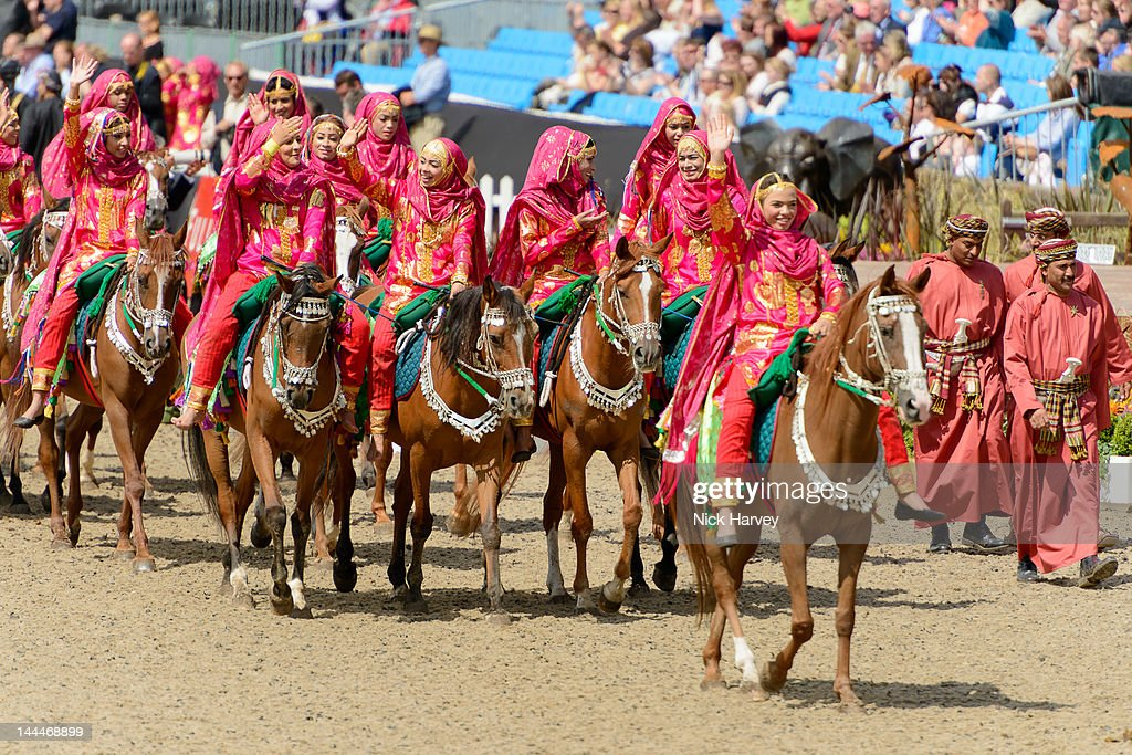 The Royal Cavalry Of Oman Perform During Windsor Horse Show At Home Park On