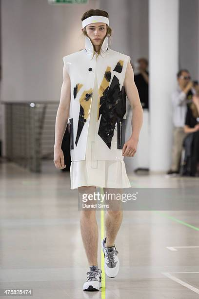 The Royal College of Art 2015 Graduate Fashion show at the Royal College of Art Kensington London on June 3 2015