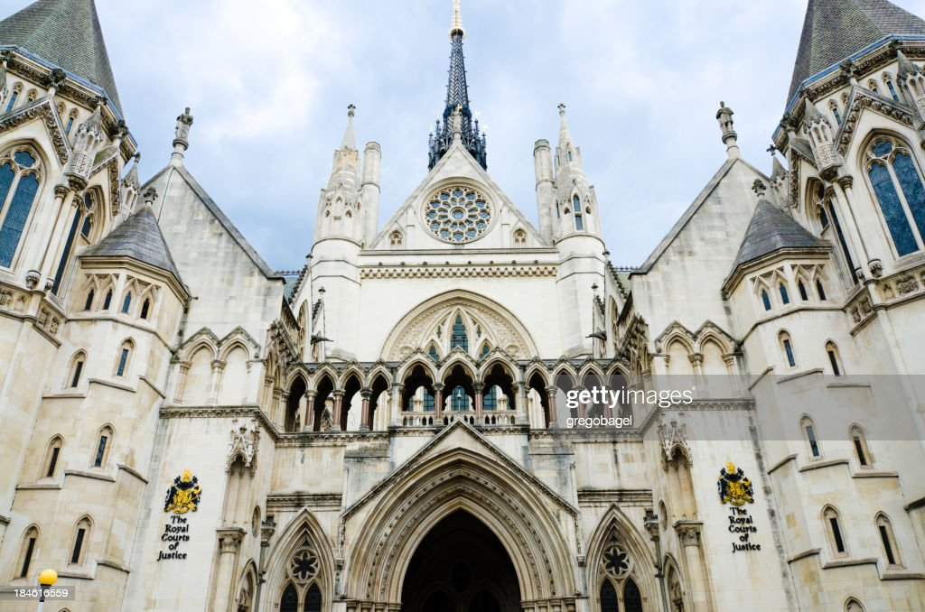 'The Royal Courts of Justice in London, England'