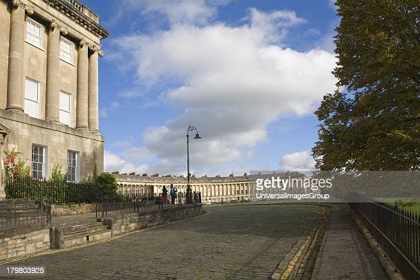 The Royal Crescent architect John Wood the Younger built between 1767 and 1774 Bath Somerset England