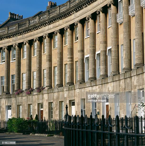 The Royal Crescent Bath Somerset c2000s Exterior view of nos 48 Designed by John Wood the Younger amd built between 1767 and 1774 Bath's Royal...
