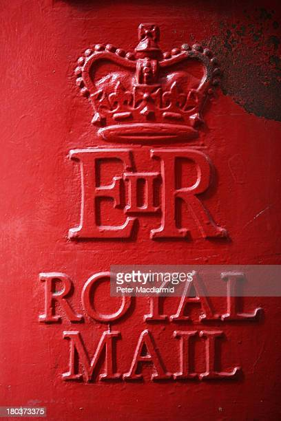 The Royal cypher is displayed on a Royal Mail post box on September 12 2013 in London England The Royal Mail will be privatised in the next few weeks...