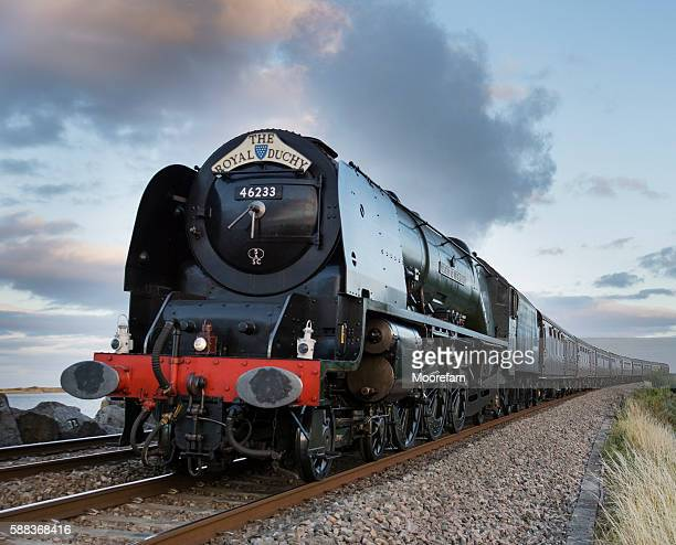 The Royal Duchy steam train passing Exe estuary in August