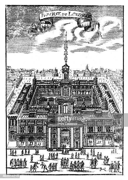 The Royal Exchange London 1686 This is the second building which replaced the original built by Sir Thomas Gresham which was destroyed in the Fire of...