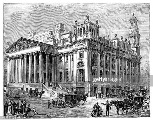 The Royal Exchange Manchester Illustration from The Life Times of Queen Victoria by Robert Wilson Vol III