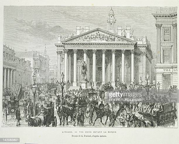 The Royal Exchange of London from Nouvelle Geographie Universelle of Elisee Reclus volume IV England 19th century Engraving