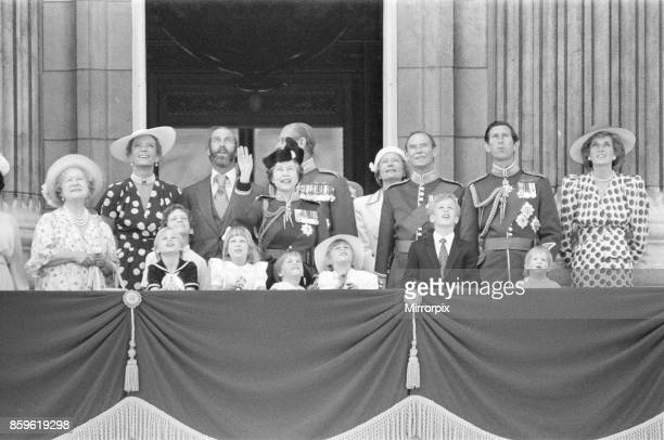 The Royal Family assemble on the balcony of Buckingham Palace for The Trooping of the Colour ceremony Left to right The Queen Mother Princess Michael...