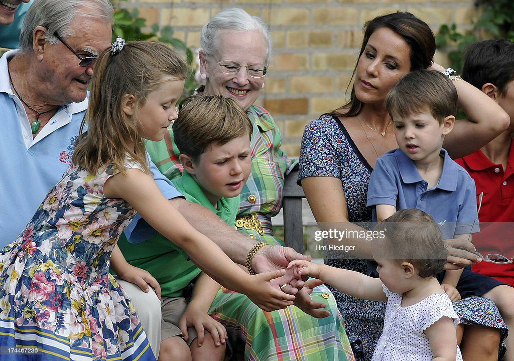 The royal family attends the annual Summer photocall for the Royal Danish family at Grasten Castle on July 26, 2013 in Grasten, Denmark.