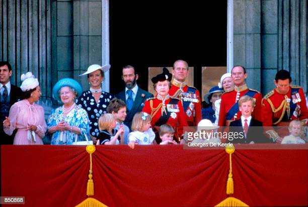 The Royal Family of England Great Britain June 14 1986