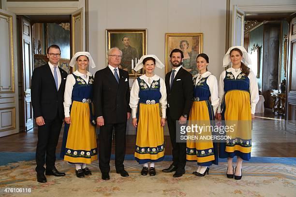 The Royal family Prince Daniel Crown Princess Victoria King Carl Gustaf Queen Silvia Prince Carl Philip his fiancee Sofia Hellqvist and Princess...