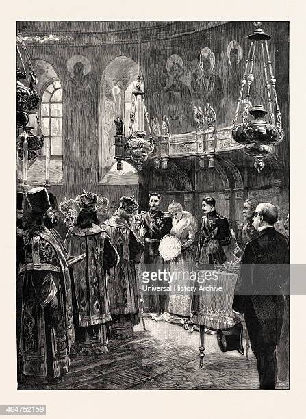 Ceremony In The Metropolitan Church Romania 1893 Engraving