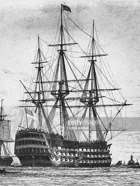 The Royal Navy first rate ship of the line HMS Victory circa 1800 The ship is best known for its role as Nelson's flagship at the Battle of Trafalgar...