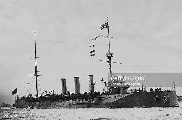 The Royal Navy Topazeclass protected cruiser HMS Amethyst during the Dardanelles Campaign 1 March 1915