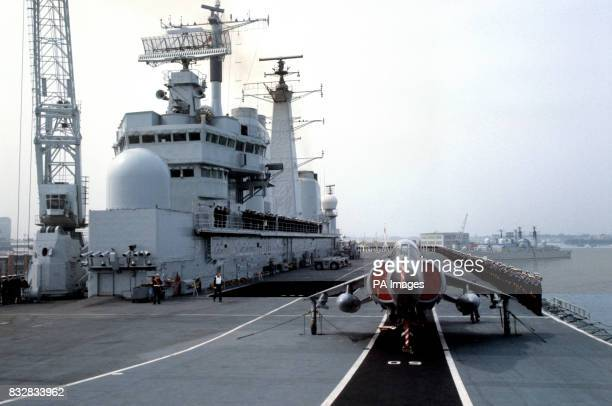 The Royal Nay's newest warship HMS Illustrious sailed for the Falklands to take over the duties in the South Atlantic from sister ship HMS Invincible...