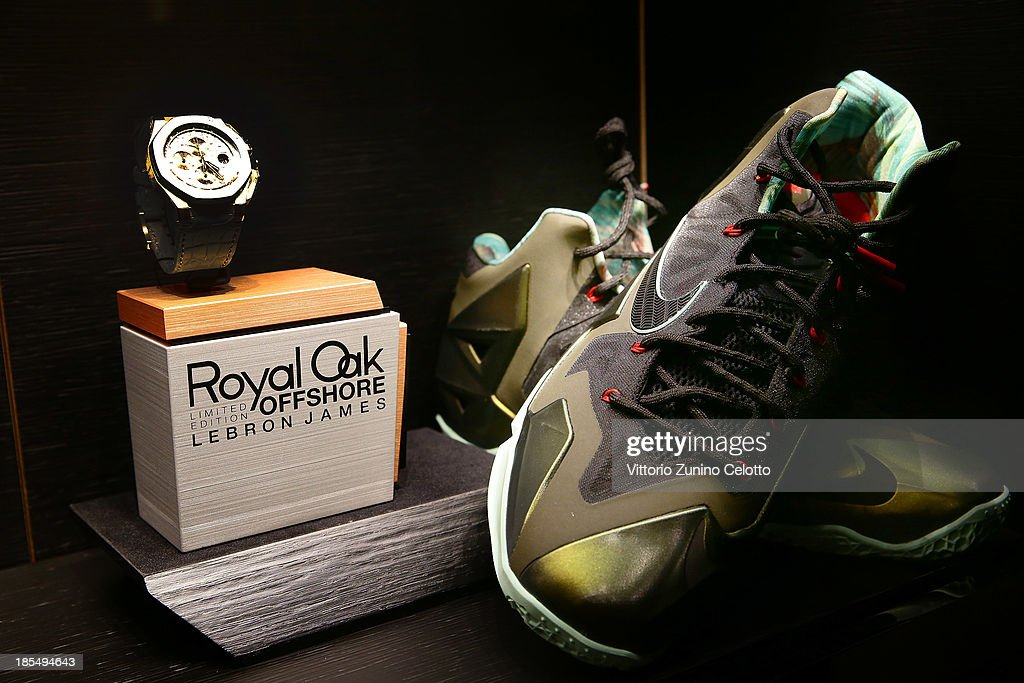The Royal Oak Offshore Limited Edition Lebron James is displayed during the Audemars Piguet Cocktail on October 21, 2013 in Milan, Italy.