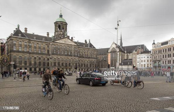 The Royal Palace and the Nieuwe Kerk at the Dam on June 24 2013 in Amsterdam Netherland