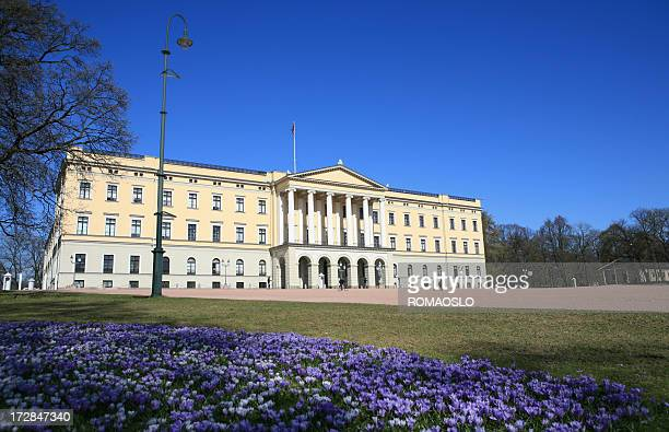 The Royal Palace in Oslo springtime, Norway
