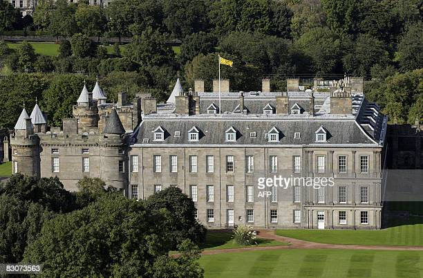 The Royal residence Holyrood Palace is pictured in the Holyrood area of Edinburgh on September 30 2008 AFP PHOTO/Ed Jones