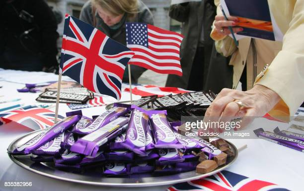 The Royal Society of Chemistry's Cadbury's Dairy Milk verses Hershey Bar Challenge held at Burlington House outside the Royal Academy of Arts in...