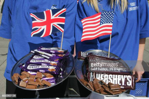 The Royal Society of Chemistry's Cadbury's Dairy Milk versus Hershey Bar Challenge held at Burlington House outside the Royal Academy of Arts in...