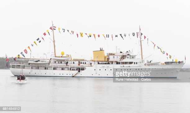 The Royal yacht Norge on the occasion of the celebration of King Harald and Queen Sonja of Norway 80 birthdays on May 10 2017 in Oslo Norway