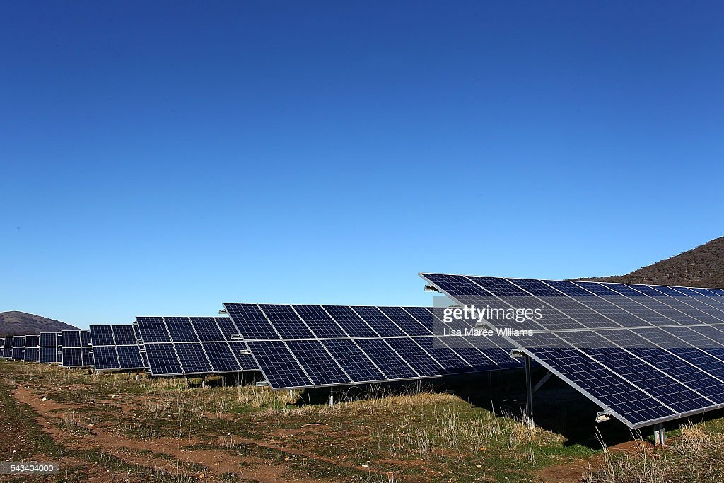 The Royalla Solar Farm as seen during a tour by Leader of the Opposition, Australian Labor Party Bill Shorten on June 28, 2016 in Canberra, Australia. Bill Shorten used the visit to outline Labor's policy plans for the renewable energy sector, address climate change and the creation of jobs.