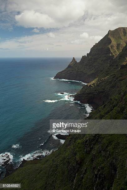 The rugged cliffs of the northern coast Tenerife