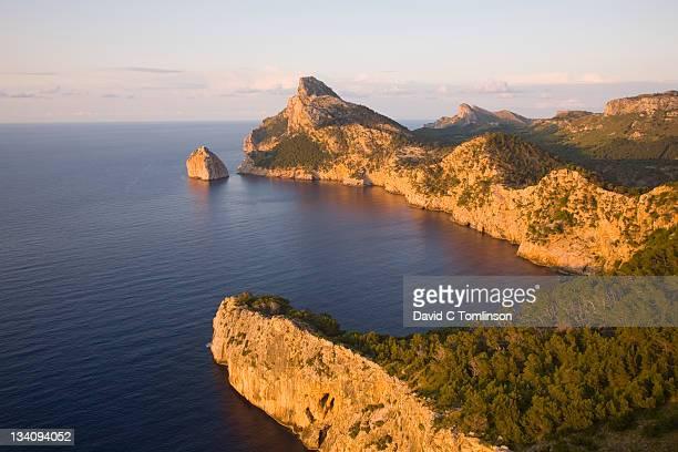 The rugged Formentor Peninsula, sunset, Mallorca