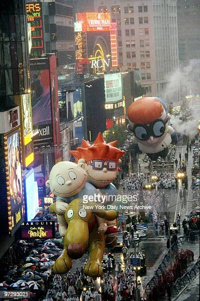 The Rugrats make their entry at Times Square during the 72nd annual Thanksgiving Day Parade
