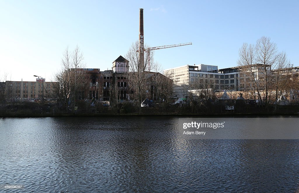 The ruins of former ice factory known locally as the Eisfabrik, currently sheltering homeless Roma, stands on December 27, 2013 in Berlin, Germany. The future of several homeless members of the Roma community, mostly from Bulgaria, remains uncertain as officials decide whether to evict those who have taken up residence over the past two years in the decayed structure. Citizens of Romania and Bulgaria, countries which joined the European Union in 2007, will be granted full access to European job markets next year, which some critics fear may bring about 'welfare tourism,' seeing squats such as those in the Eisfabrik as a warning of what will come if the immigration is unregulated.