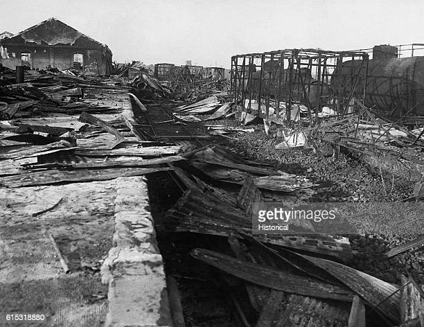 The ruins of oil fields in Tampico Mexico Damaged during Mexican Punitive Expedition