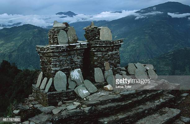 The ruins of Rabdentse the second capital of Sikkim built in the 17th century Once a part of Tibet Sikkim was one of several principalities that...