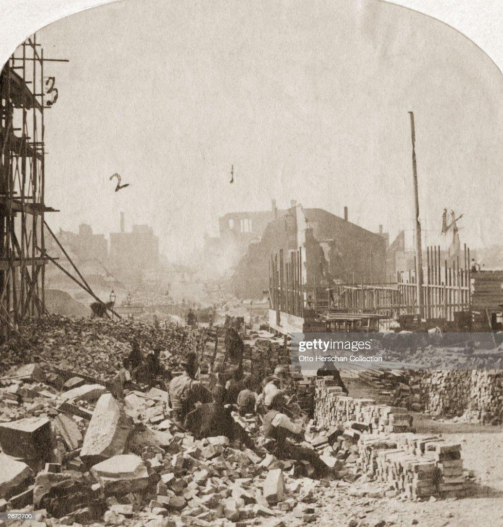 The ruins of Richmond Virginia during the American Civil War 1861