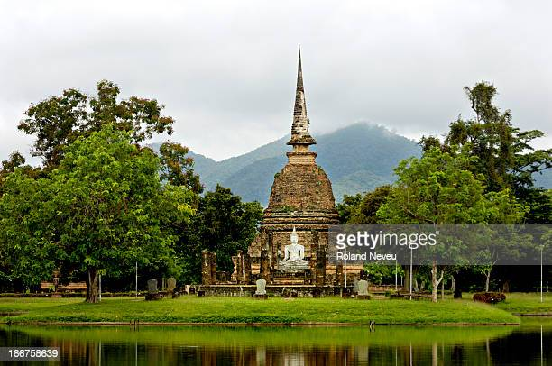 The ruins of Sukhothai capital of the 13th century kingdom created when a local ruler revolted against the Khmer empire