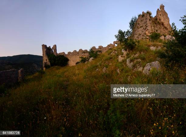 The ruins of the ancient Roccasecca Castle