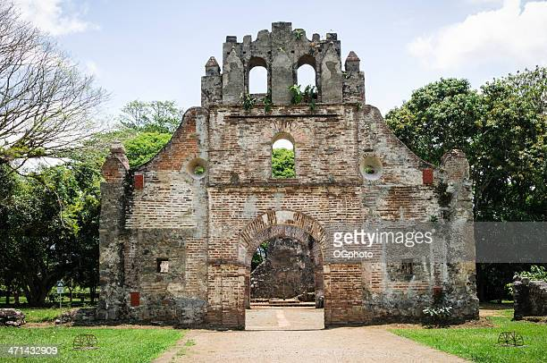 The ruins of the Colonial Church in Ujarras Costa Rica