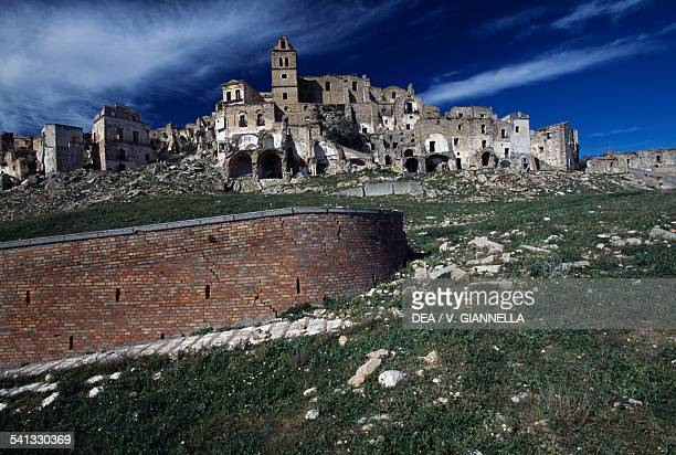 The ruins of the old town of Craco Basilicata Italy