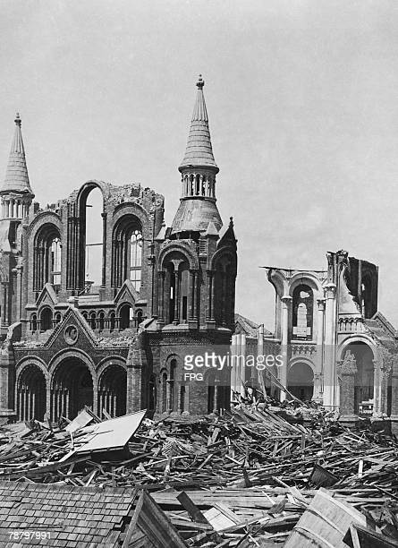 The ruins of the Sacred Heart Church Galveston Texas after the category 4 Hurricane which struck on 8th September 1900