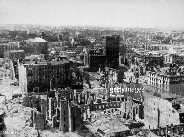 The ruins of Warsaw after a sustained German attack