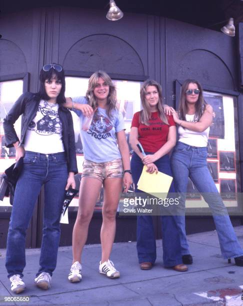 The Runaways 1977 Joan Jett Sandy West Vicki Blue Lita Ford