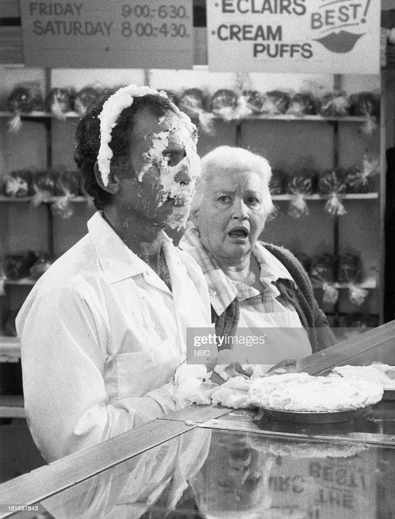 BLUES 'The Runner Falls on His Kisser' Episode 720 Pictured Bruce Weitz as Det Mick Belker Lillian Adams as Mrs LaScali