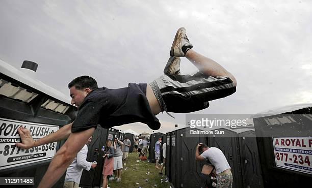 The running of the urinals continued in 2008 even though they were separated in the infield before the start of the 133rd Preakness at Pimlico in...