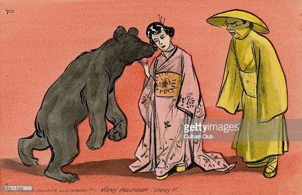 The Russian bear pacified by the Japanese an allusion to the Japanese victories in Korea early in the RussoJapanese War Caption reads 'Le Japon...