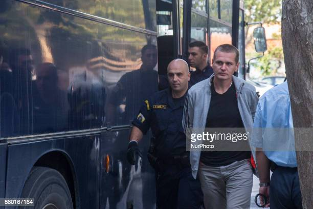 The Russian bitcoin fraud suspect Alexander Vinnik escorted to the courthouse of Thessaloniki to examine the Russian request for extradition of the...