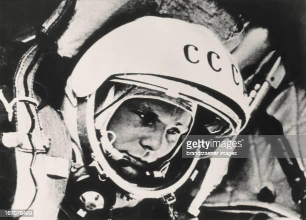 The Russian cosmonaut Juri Gagarin About 1963 Photograph Der russische Cosmonaut Juri Gagarin Um 1963 Photographie