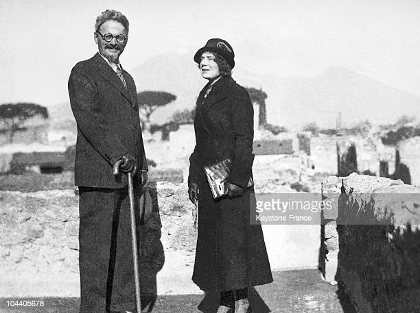 The Russian revolutionary Leon TROTSKY and his wife Natalia TROTSKY in Mexico around 1937