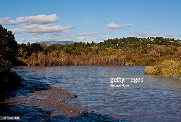 The Russian River hits flood stage near downtown after a relentess fiveday storm on December 2 in Healdsburg California More than a 18 inches of rain...