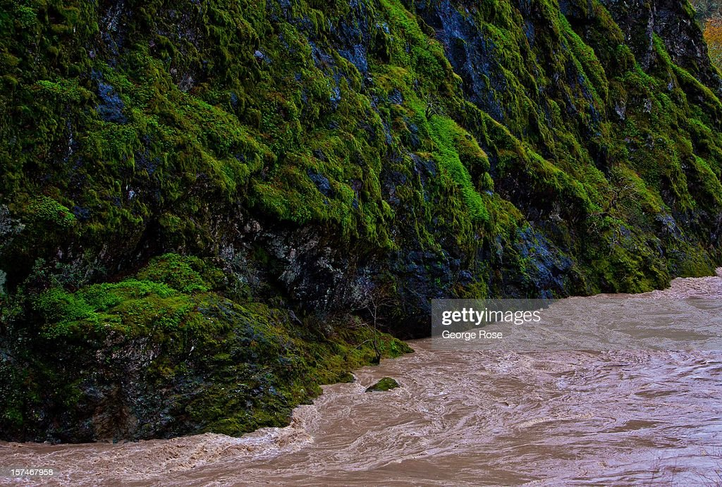 The Russian River rages through the gorge at Squaw Rock during a relentess five-day storm on December 2, 2012, in Hopland, California. More than a 18 inches of rain has fallen in California's Wine Country during the past five days. Forecasters are calling it 'The Pineapple Express,' or a 'river of moisture.'